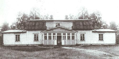 Hietasen kartanon päärakennus 1900-luvun alkupuolella